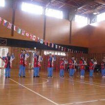 連休に地元のぶらぐの人よばって小学校の運動会やったす。