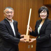 午前中、安倍昭恵さんが鹿角市に到着し、鹿角市長のもとを訪れました!