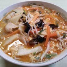 栗飯の酸辣湯麺、喰ったす。
