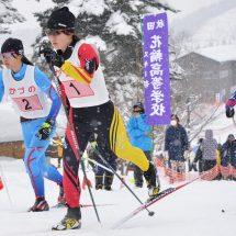 この前、花輪スキー場で県体スキー大会やったす。