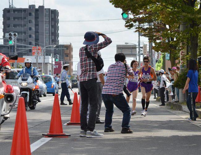 秋田市町村対抗駅伝やって鹿角市3位さなったす。