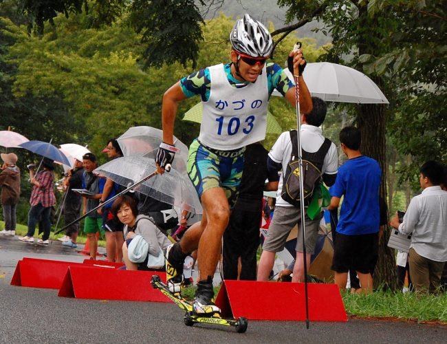 今のどにぢ、全日本ローラースキー選手権大会やったす。