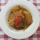 地産地消レシピ№12:かぼちゃと野菜の鶏肉カレー風味煮