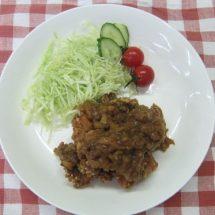 地産地消レシピ№8:枝豆の唐揚げ~りんごカレーソース~