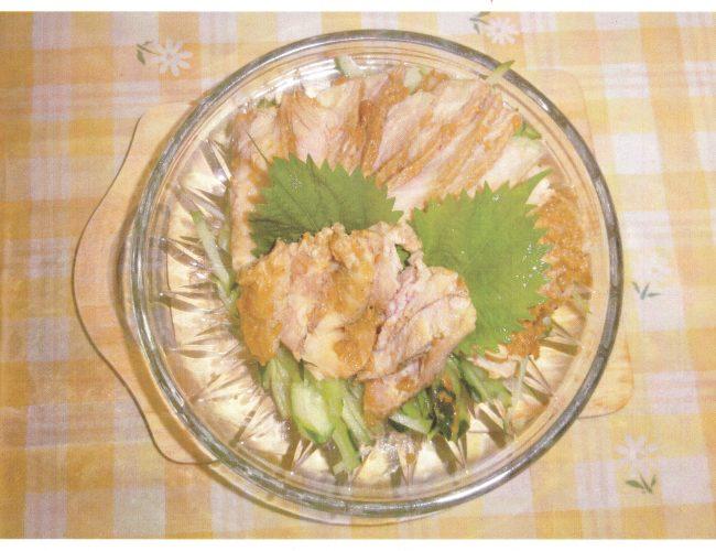 地産地消レシピ№1:棒棒肉(八幡平ポークの味噌ハム)