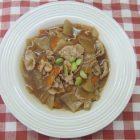 地産地消レシピ№9:枝豆と八幡平ポークのあんかけ